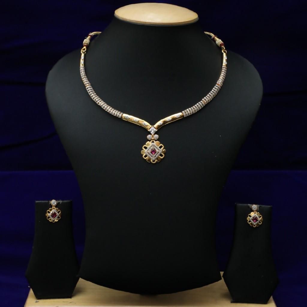 New Diamond Necklace Set 916 CZS0021