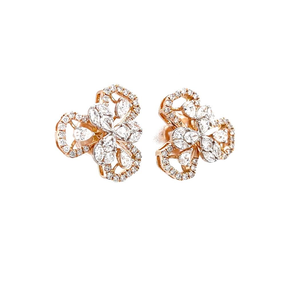 Erstaunlich diamond stud with fancy shape diamonds