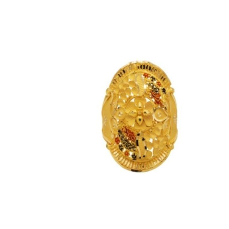 22 k light weight yellow gold ladies ring