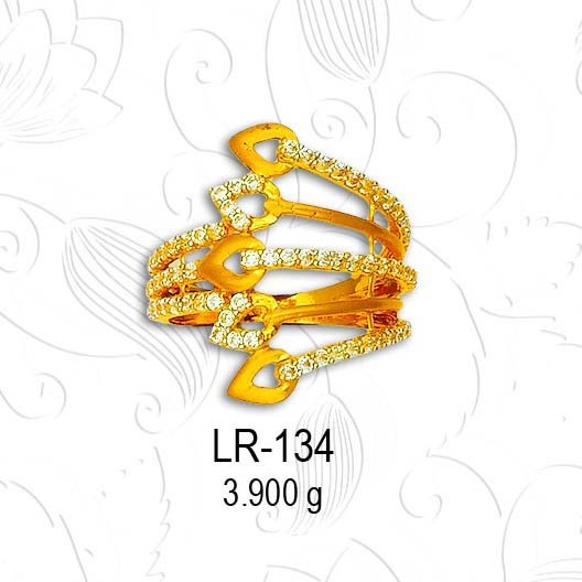 22KT Gold Designer CZ Diamond Ladies Ring LR-134