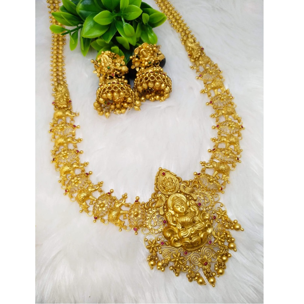 916 Gold Designer Temple Jewellery