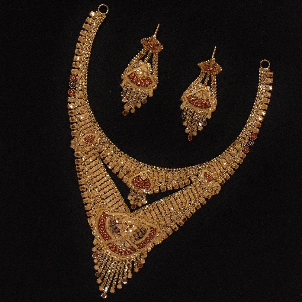 22KT Gold Traditional Necklace Set PO-N02