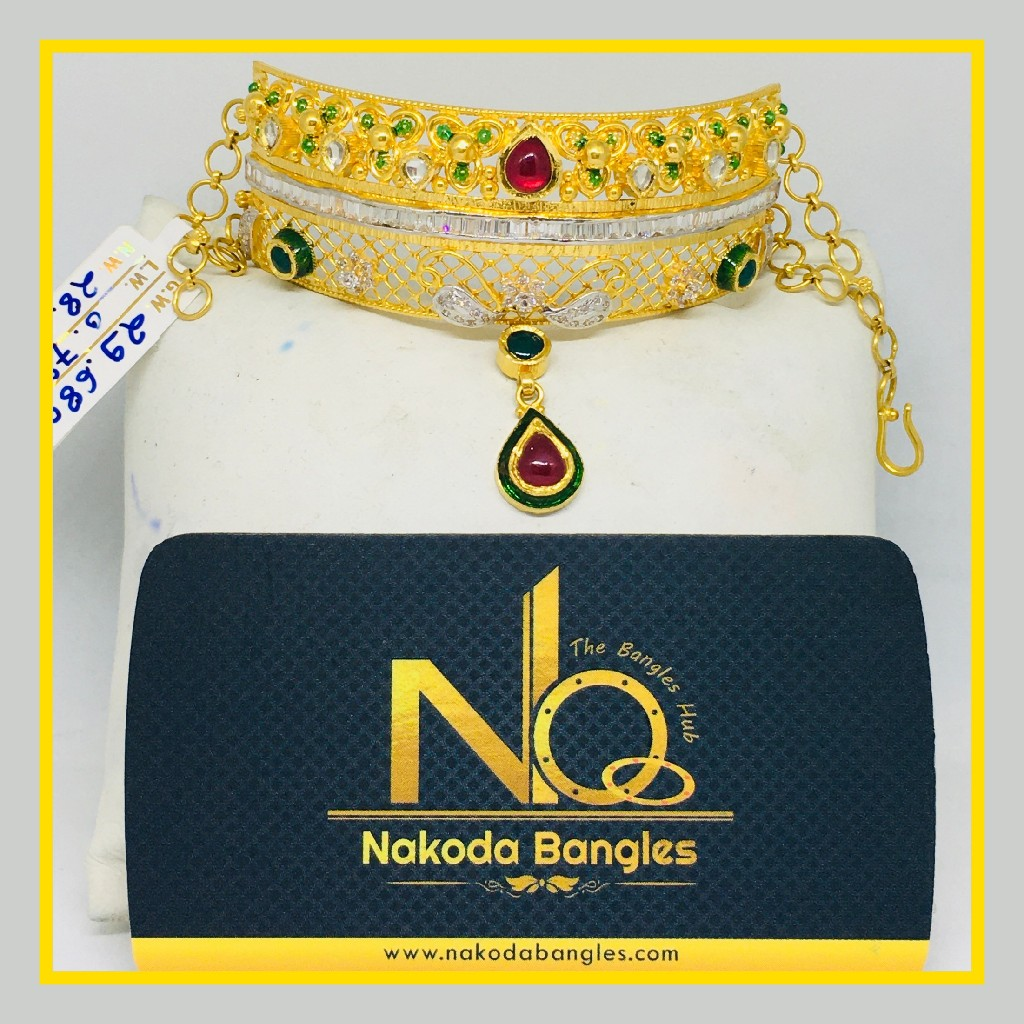 916 Gold Antique Bajubandh NB - 1027