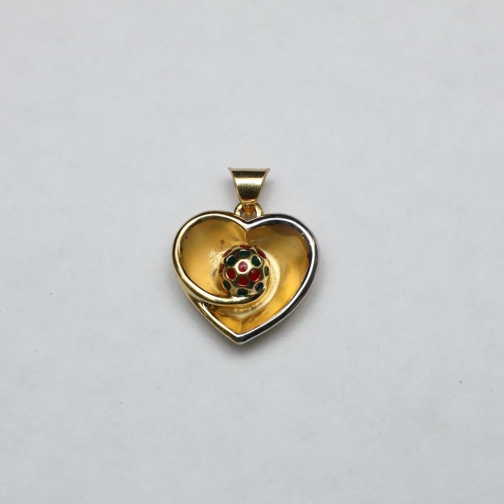 916 Gold Heart Shape Pendant ML-P002