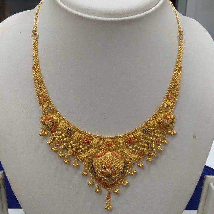 916 Gold Necklace set RJ-N0010