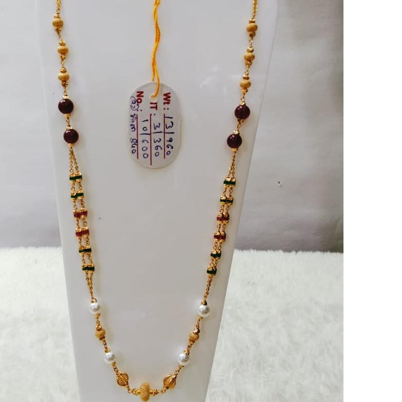 22 carat gold fancy ladies mala RH-LM822