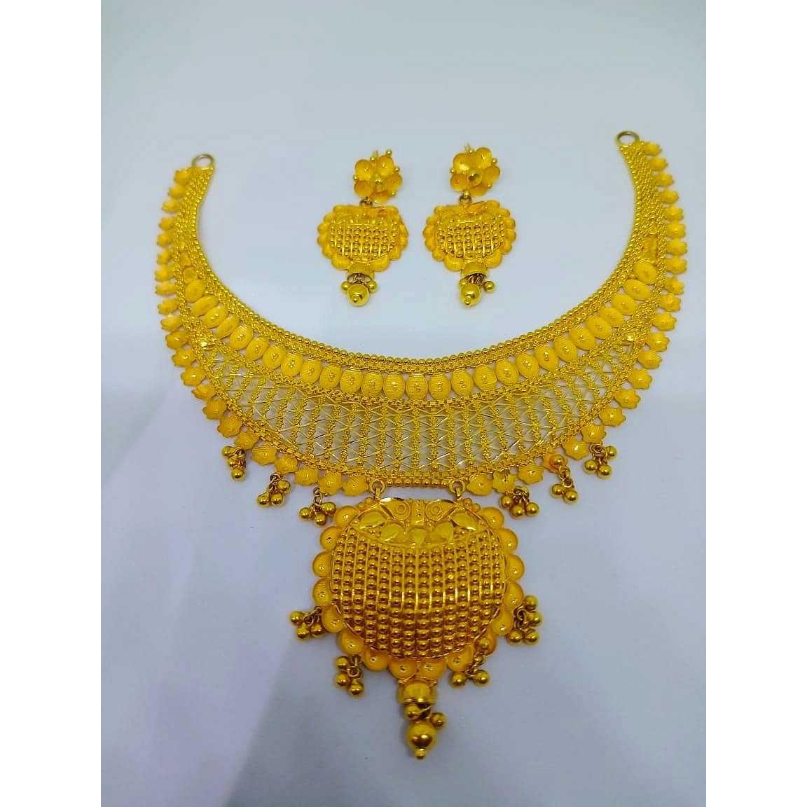 22kt gold stylish set bj-n020