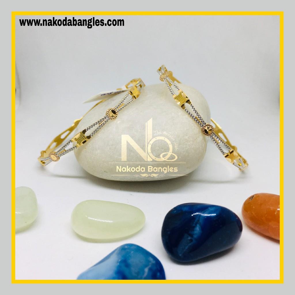 916 Gold CNC Bangles NB - 1281