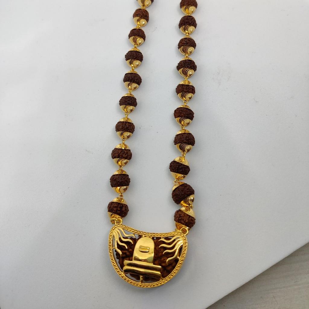 916 Gold Fancy Gent's Rudraksh Mala-Pandal