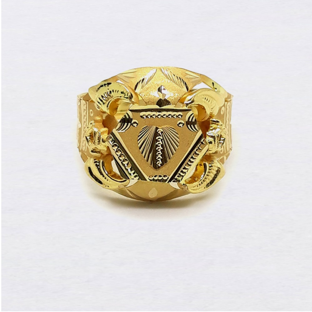 Heart Design Nazrana Gold Ring For Men