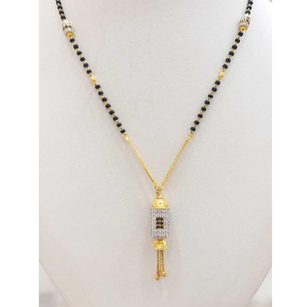 916 gold chain mangalsutra RJ-M030