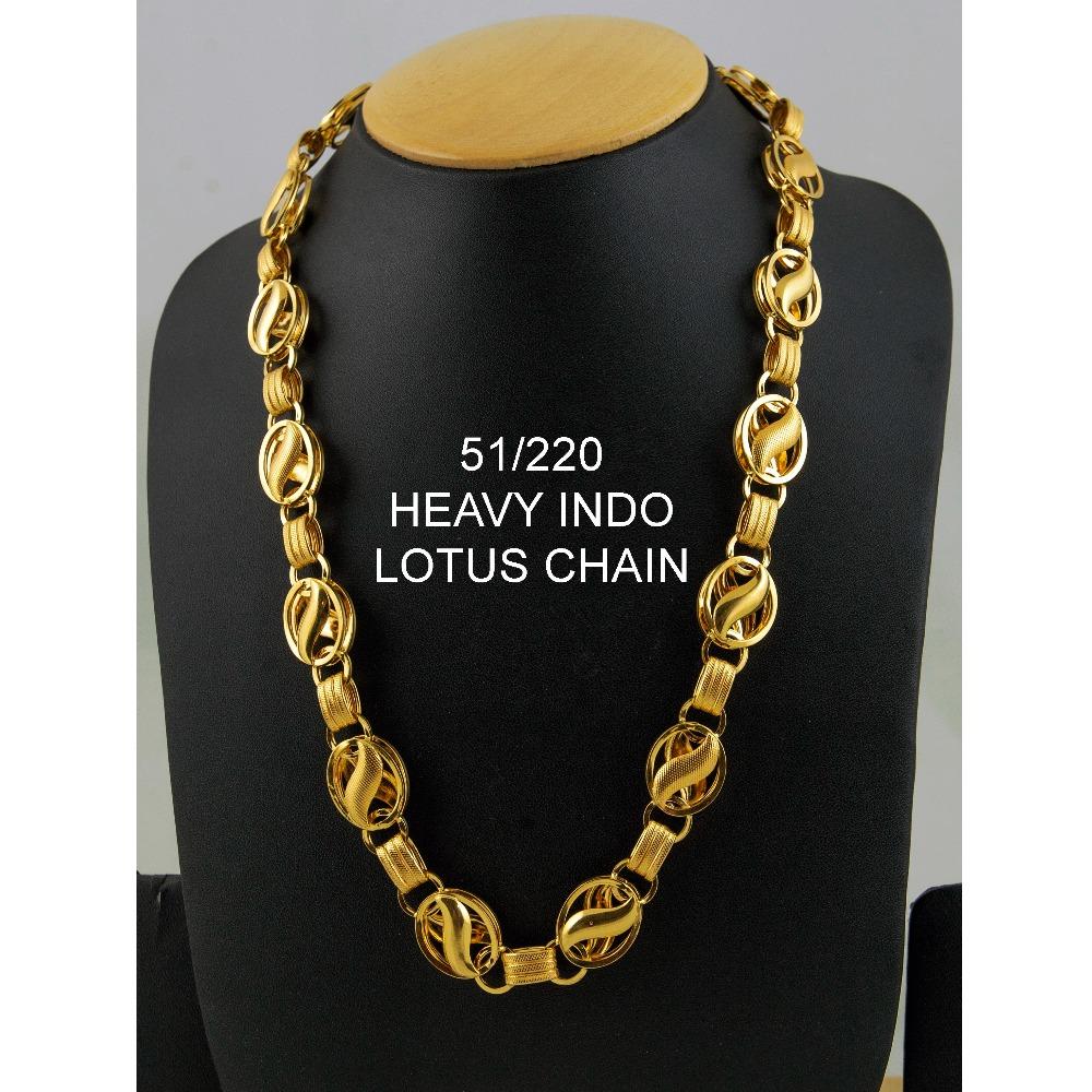 22kt gold heavy indo lotus chain ml-c03