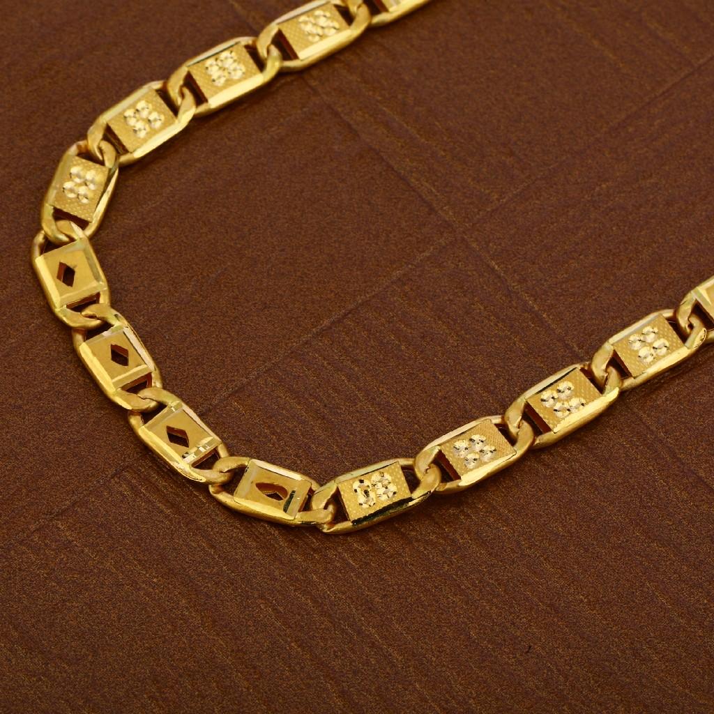 Mens 916 Plain Gold Chain-MNC39