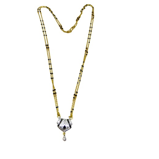 916 Two line mangalsutra with diamond pendent