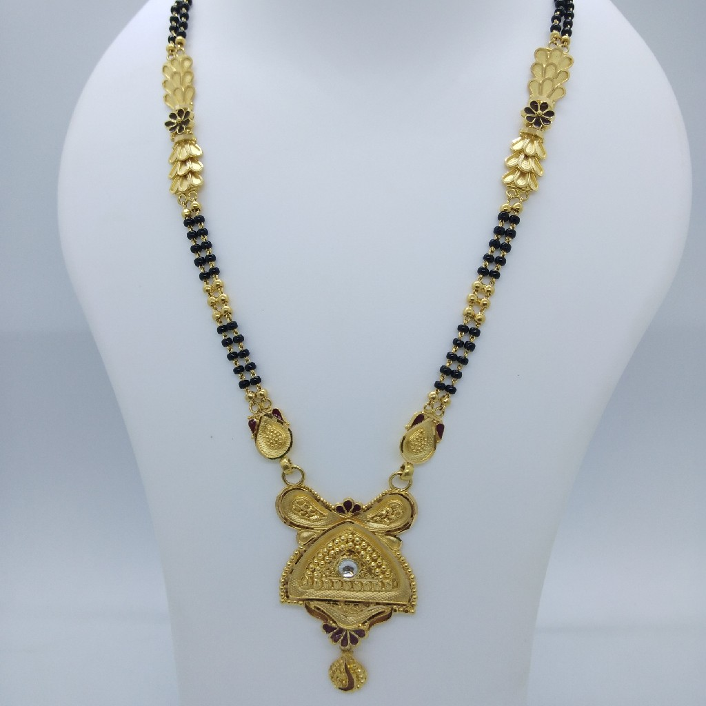 916 gold antique fancy mangalsutra tj-032