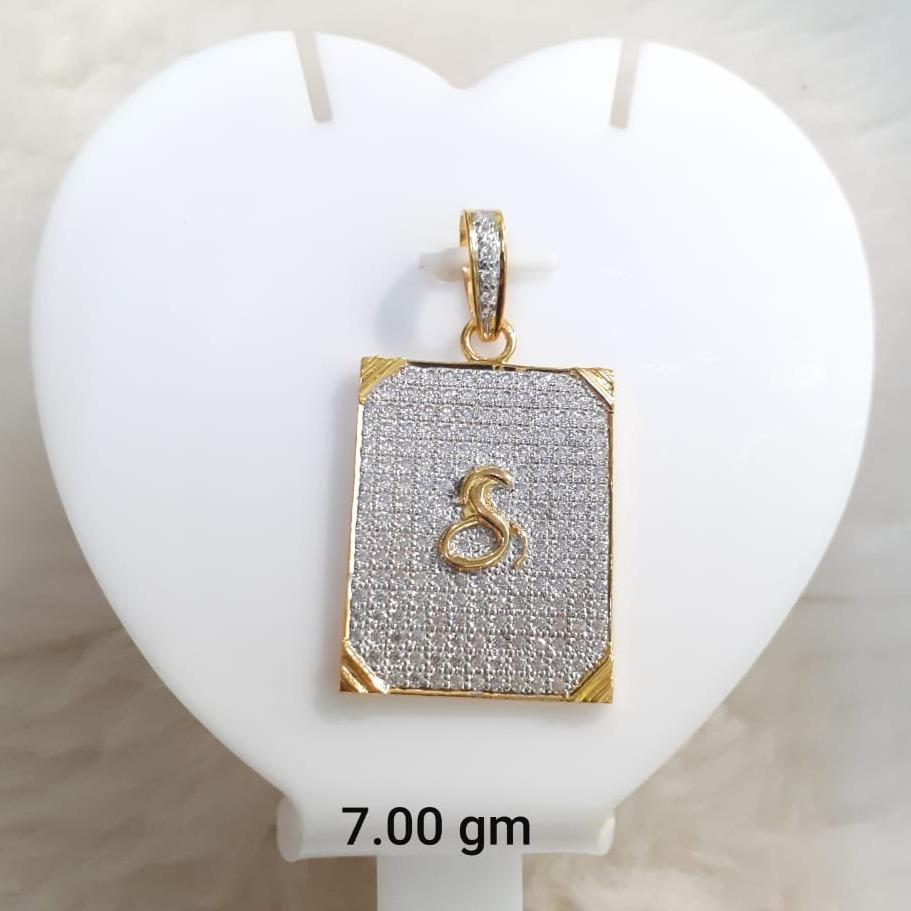 916 Gold CZ Gogha Pendant KG-P06