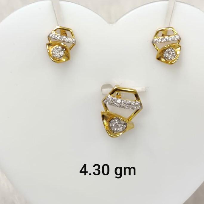 Daily wear Cz pendant set