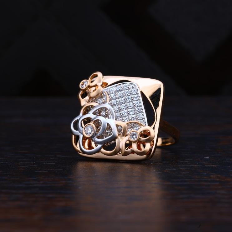 Rose Gold Ledies Ring Extra Design In Rose Gold