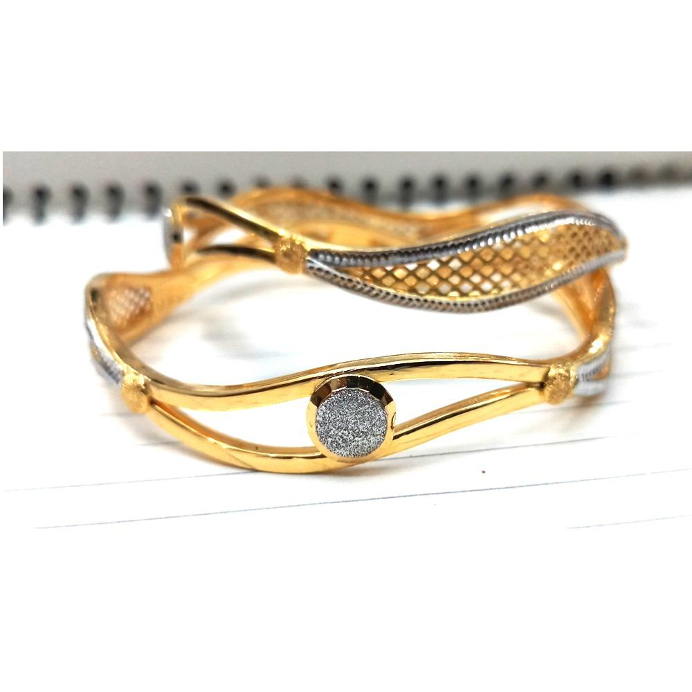 916 Gold Fancy Double Pipe Kadali Bangle