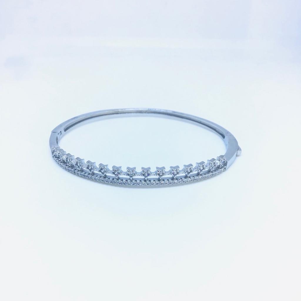 FANCY 925 DIAMOND KADA BRACELET