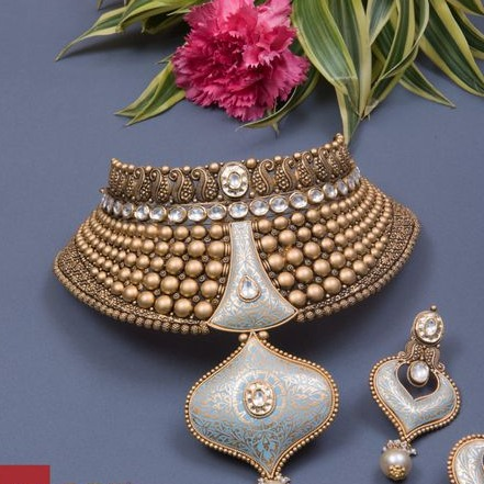 har set Kundan Chokar Set 916 Bridal Set Rajputi Gold