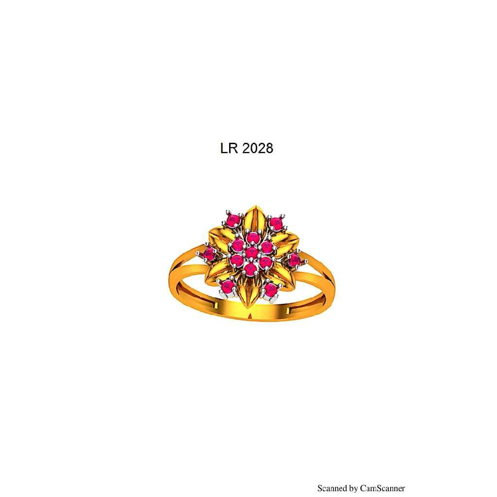 76 Gold Cz Ladies Ring 028