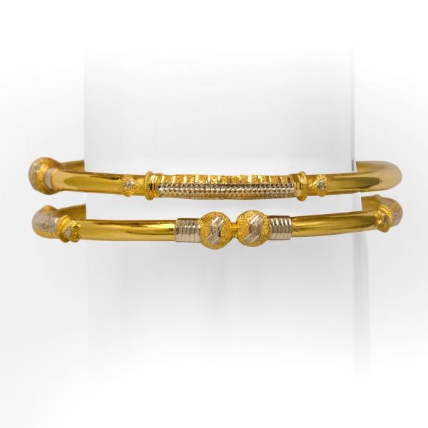 916 yellow gold ball copper kadli