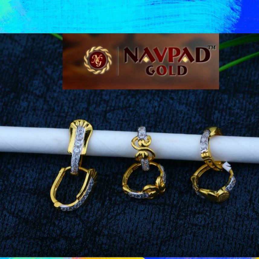 18 kt gold earrings fancy bali
