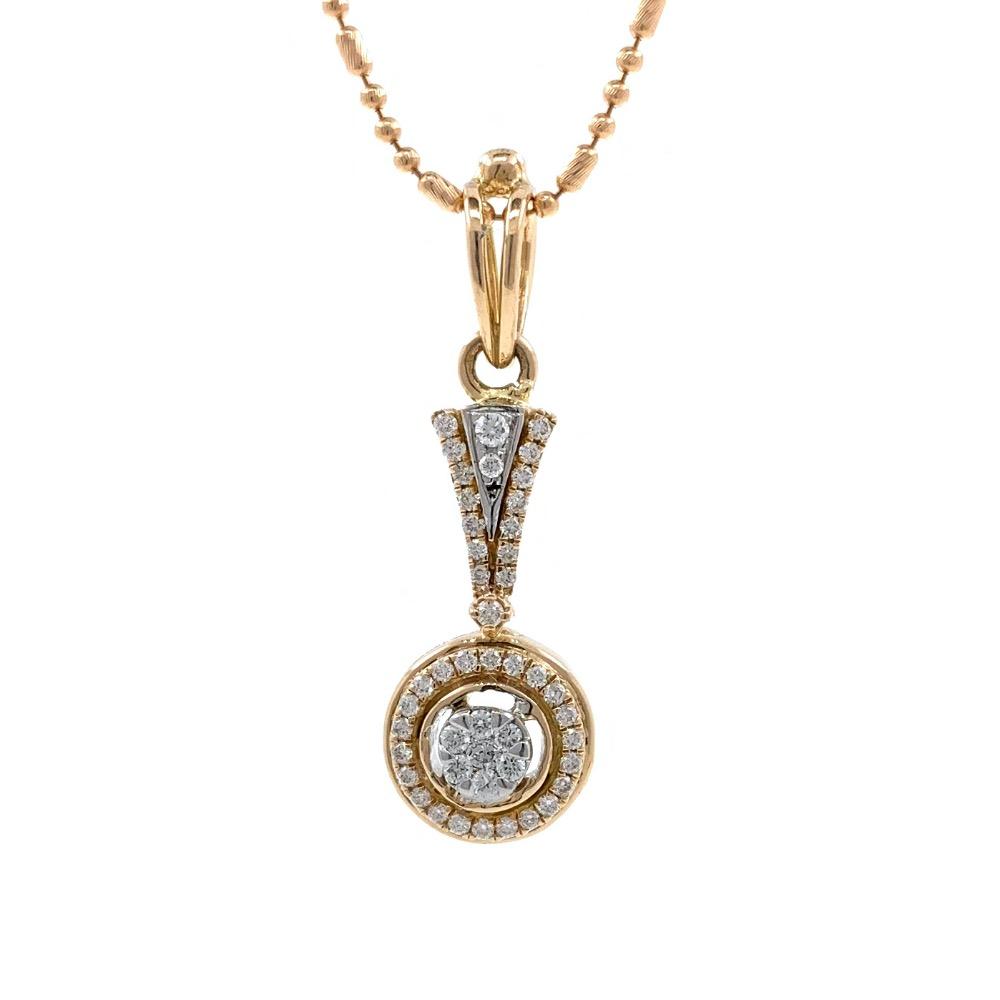 Nitidus Circular Diamond Pendant in Rose Gold 8SHP63