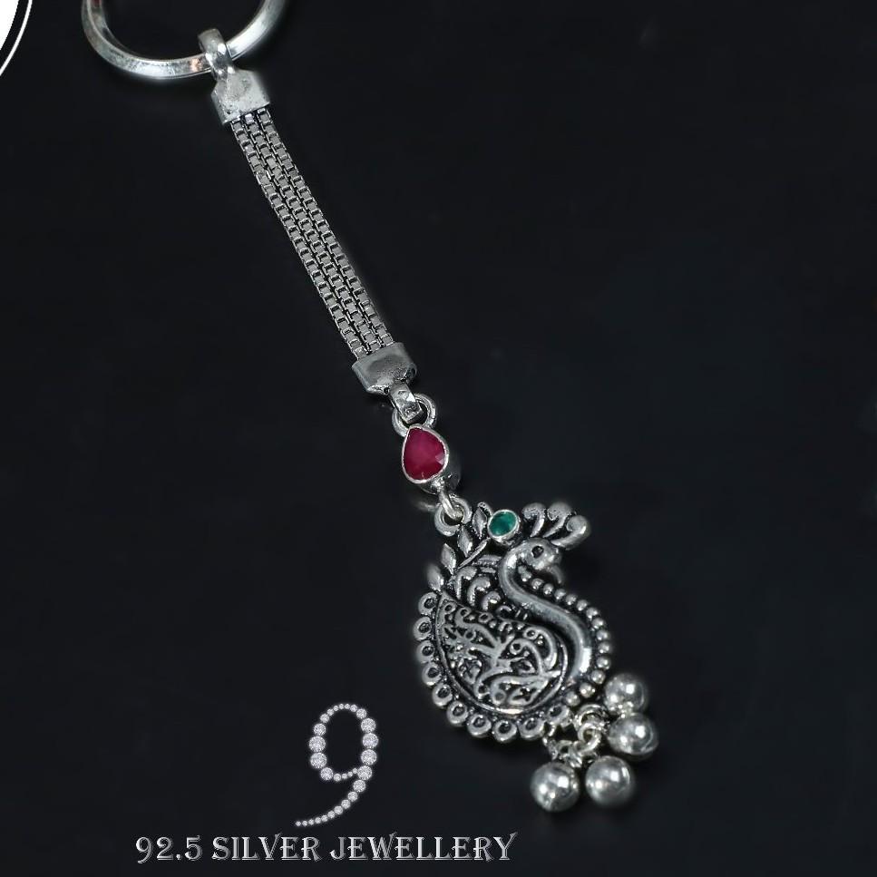 92.5 oxdes keychain silver jewelry ky001