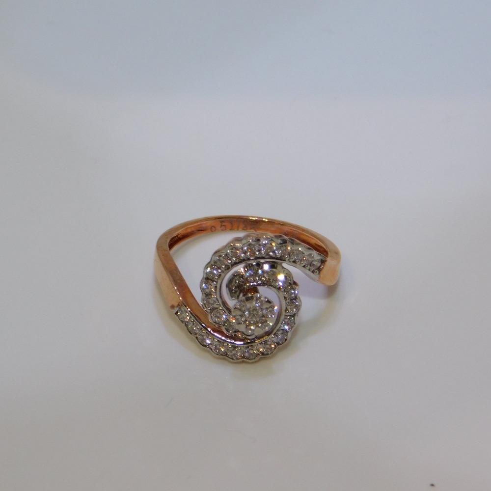 18K gold diamond ring agj-lr-325