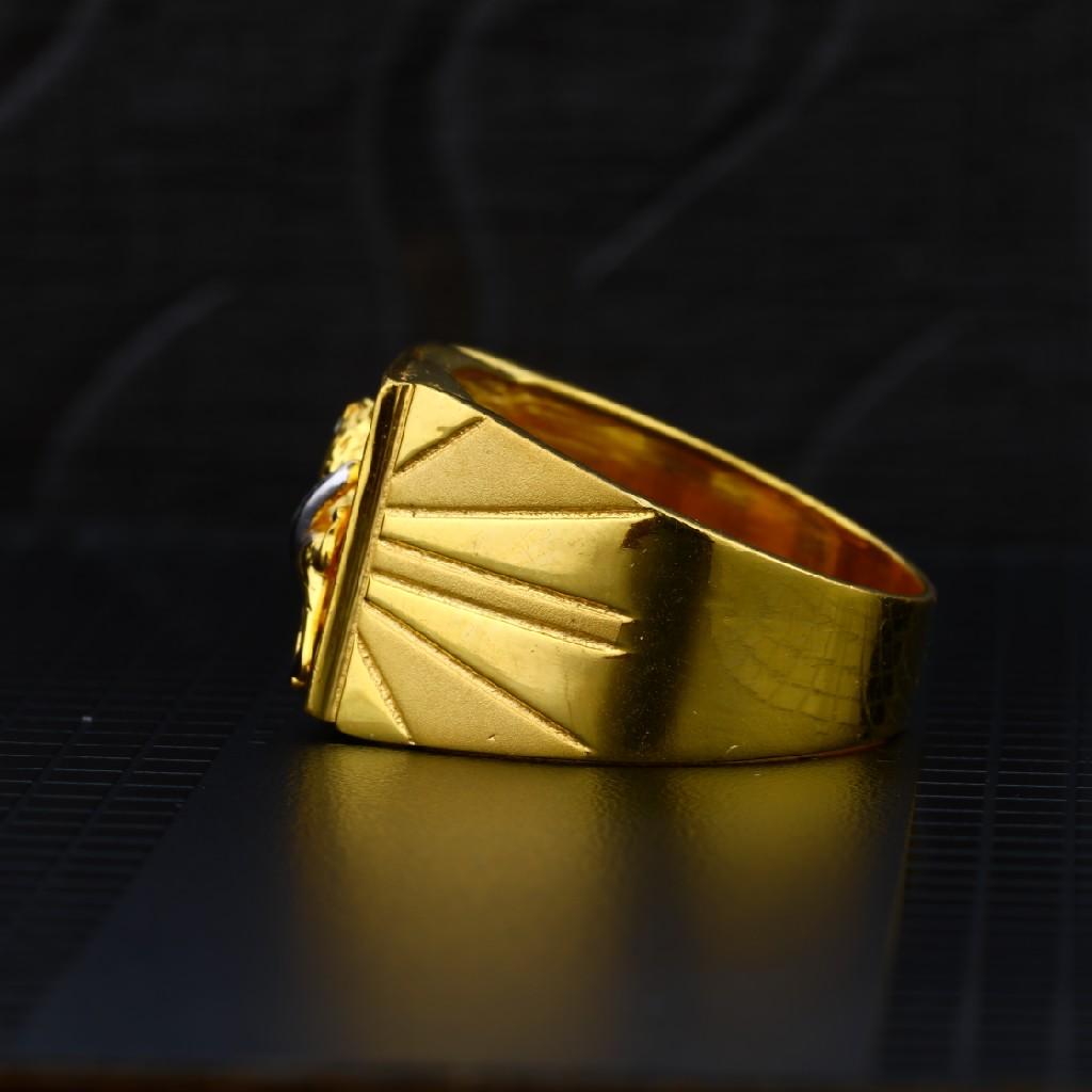 Mens 916 Plain Gold Ring-MPR01