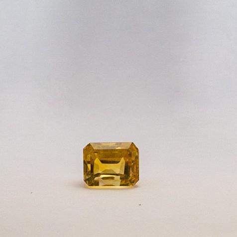 4.01ct square yellow topaz