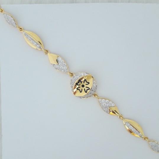 916 gold fancy carving bracelet