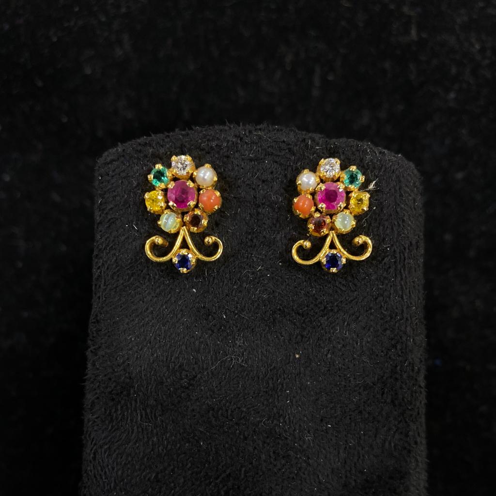 Navagraha diamond earrings