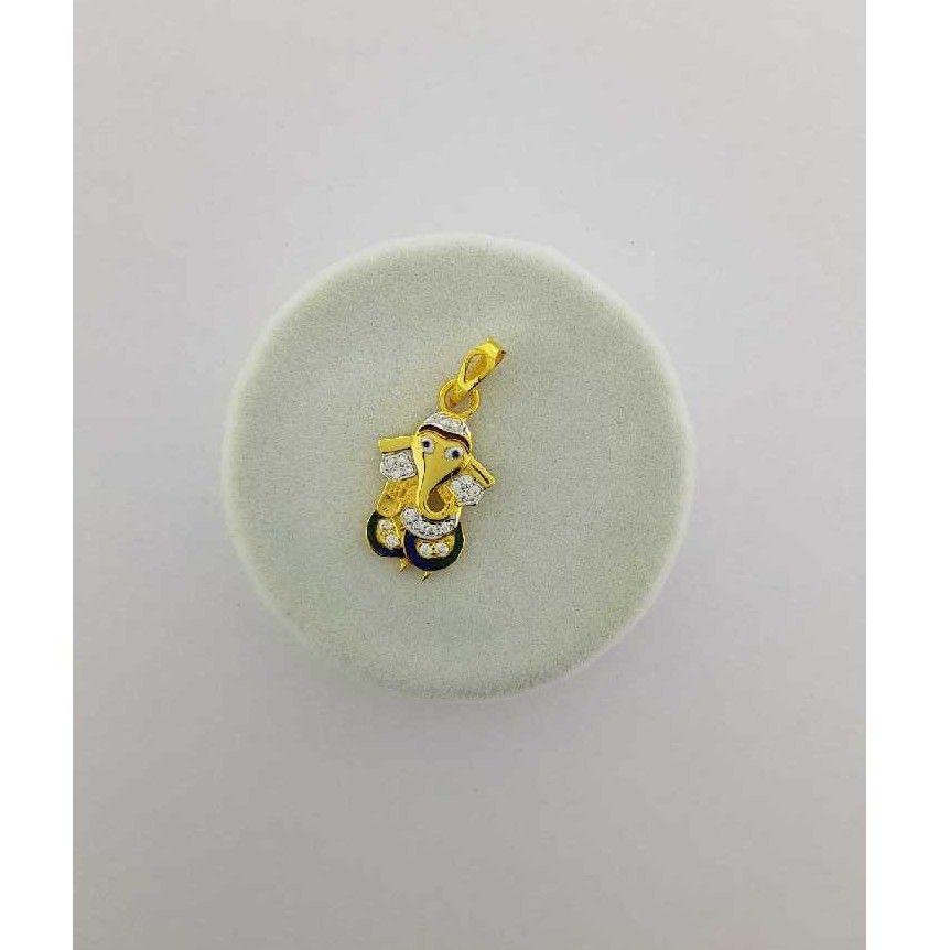 22KT Yellow Gold Fancy Ganesh Pendant
