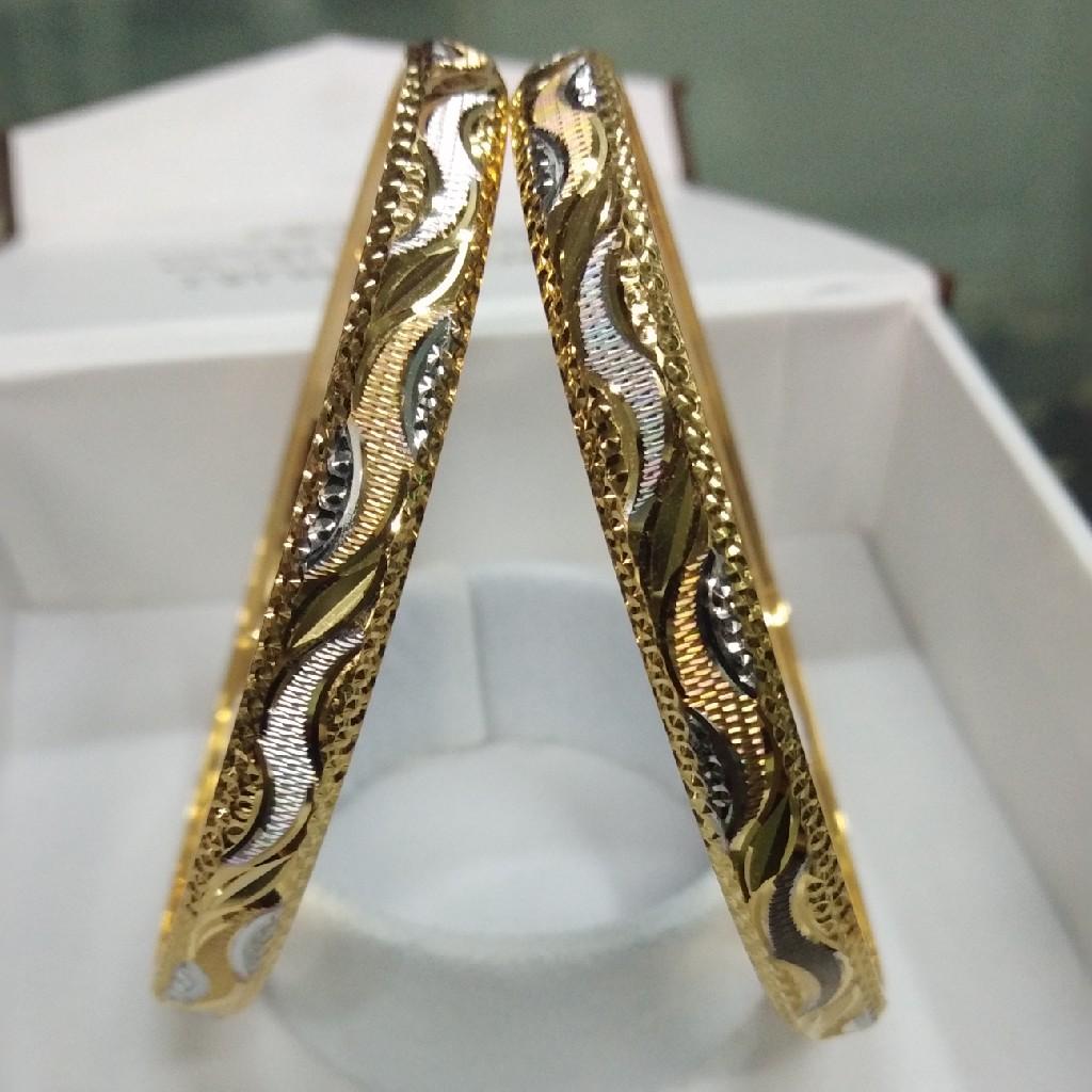 916 gold cnc bangle