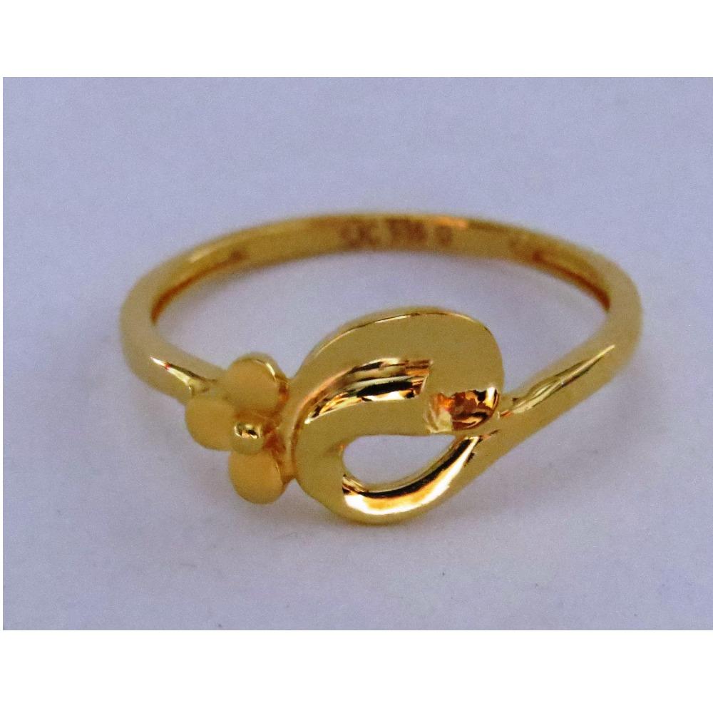 916 plain casting flower ring for ladies