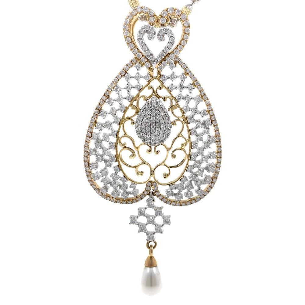 Schitterend diamond pendant in yellow gold 7shp26