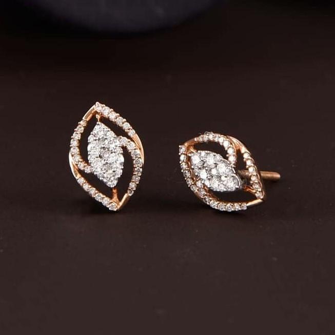 18kt Rost gold earrings