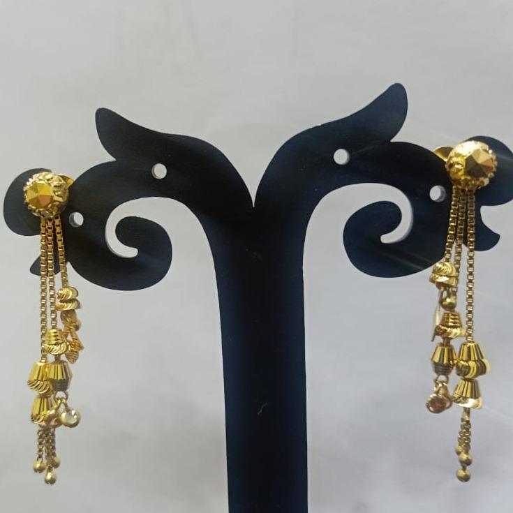18CT gold trendy design hallmark soidora earring