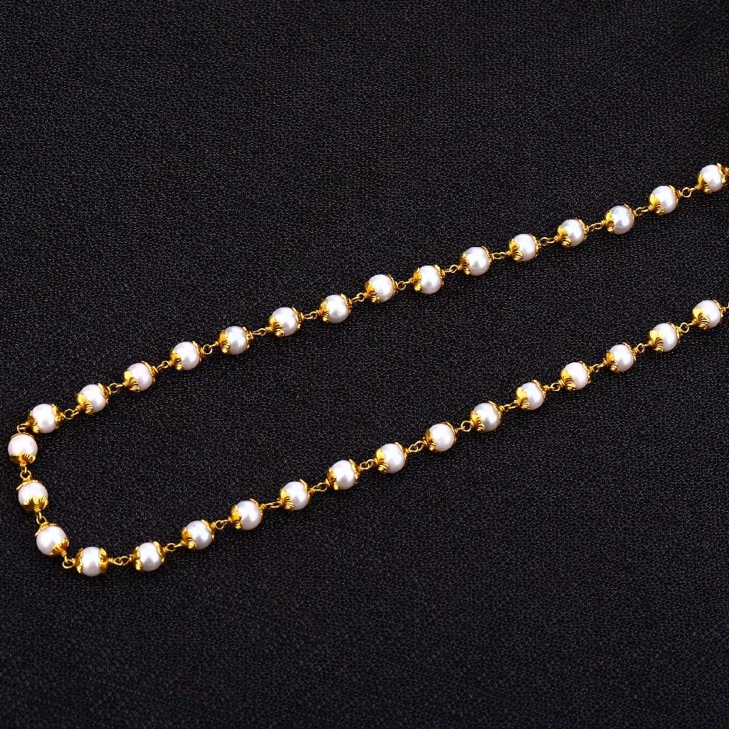 22kt Gold Designer  Antique Chain Mala AC155