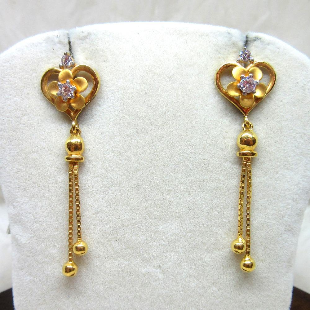 Gold Long Fancy Earring