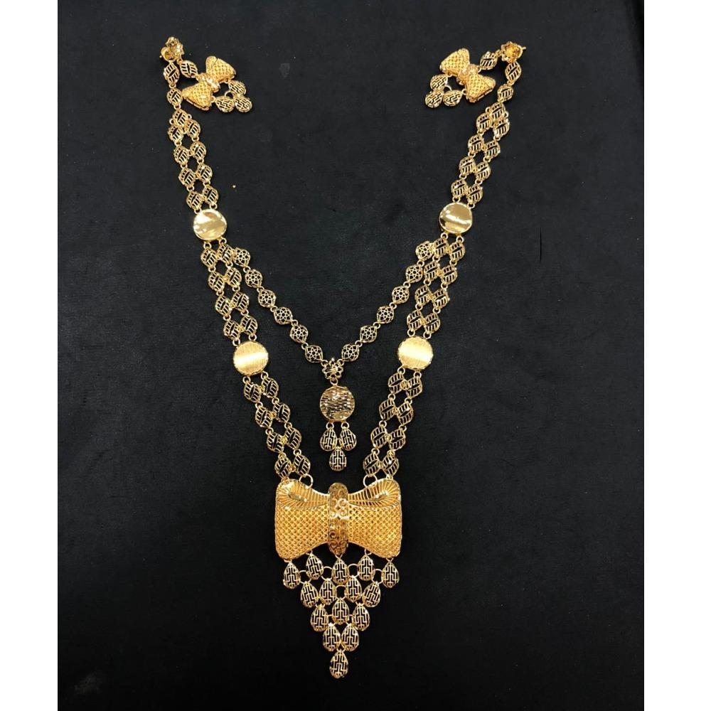22K Gold Antique Double Later Necklace Set