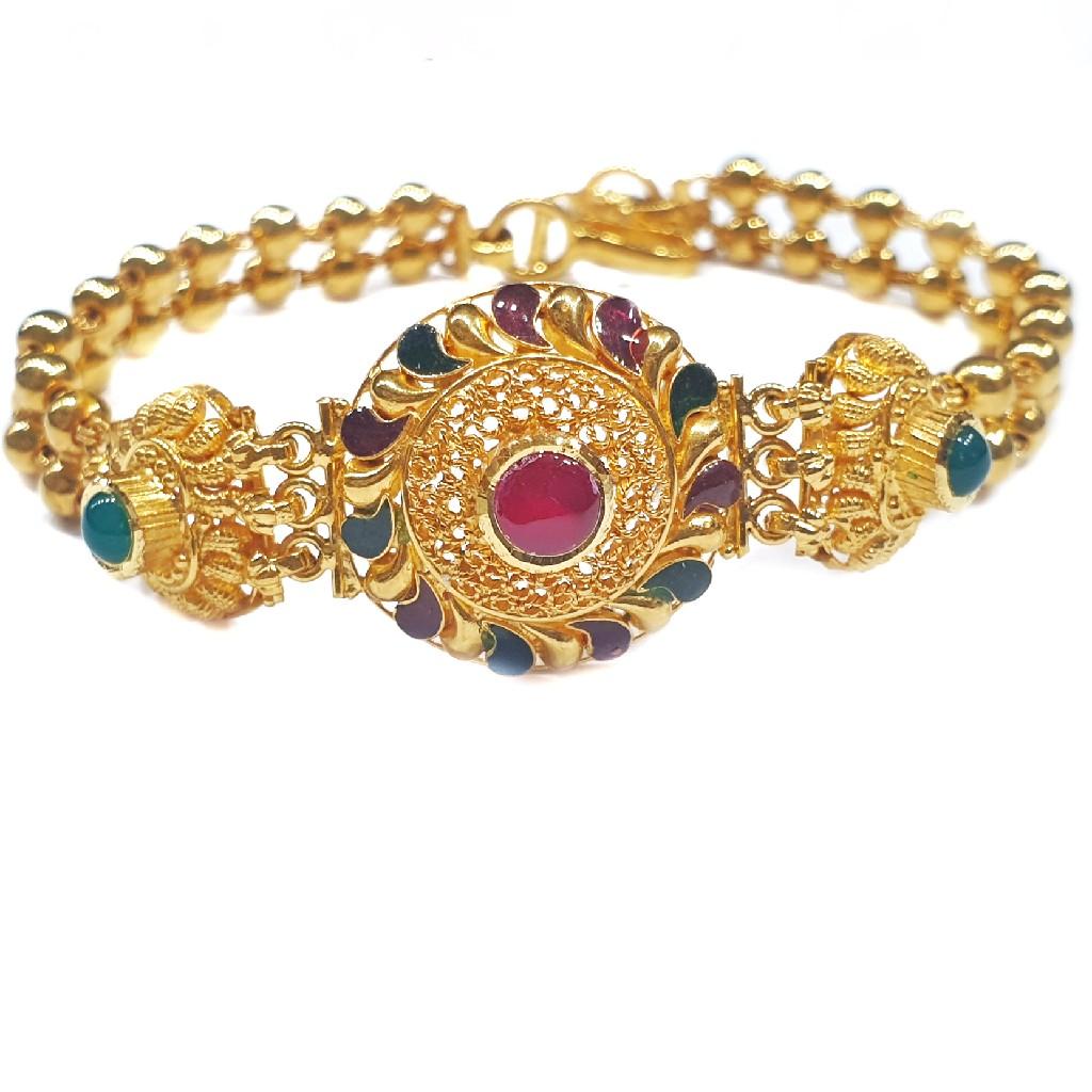 22k Gold antique bracelet mga - gb004