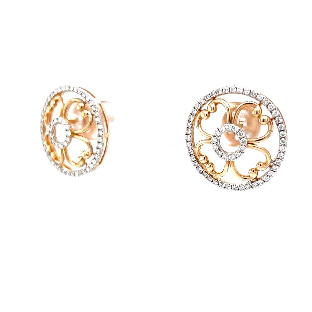 Jamila Dual Circle Premium Diamond Earring Jewellery 8TOP107