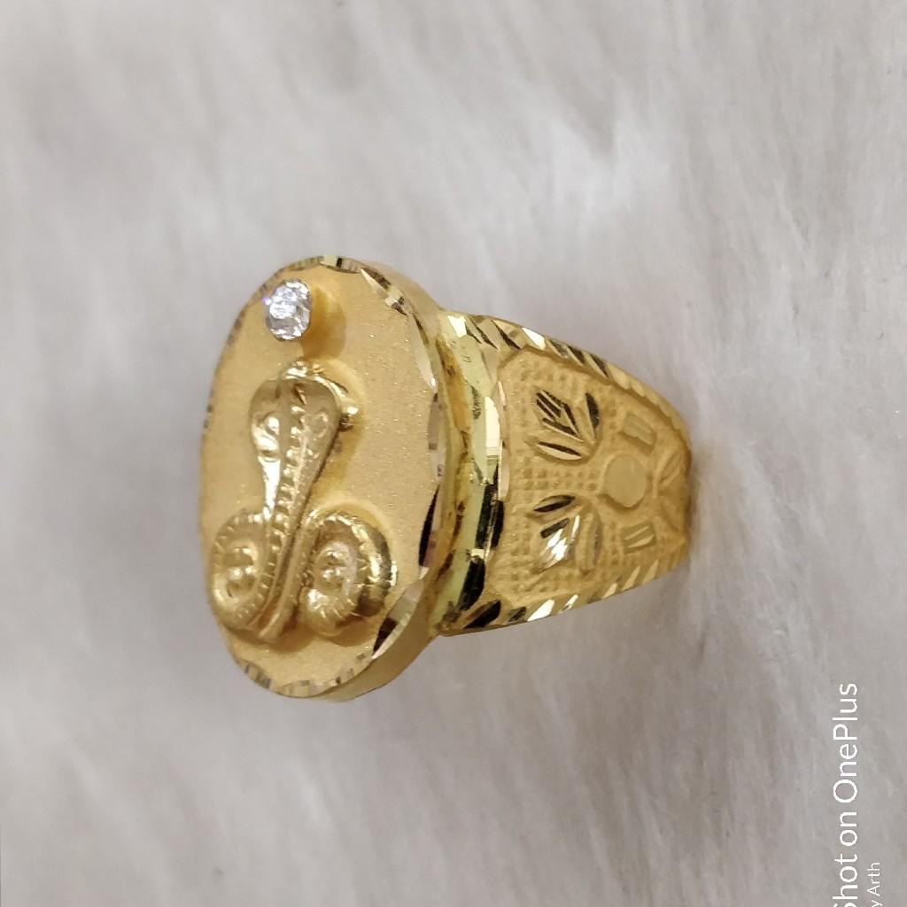916 Gold Fancy Gent's Goga Maharaj Ring