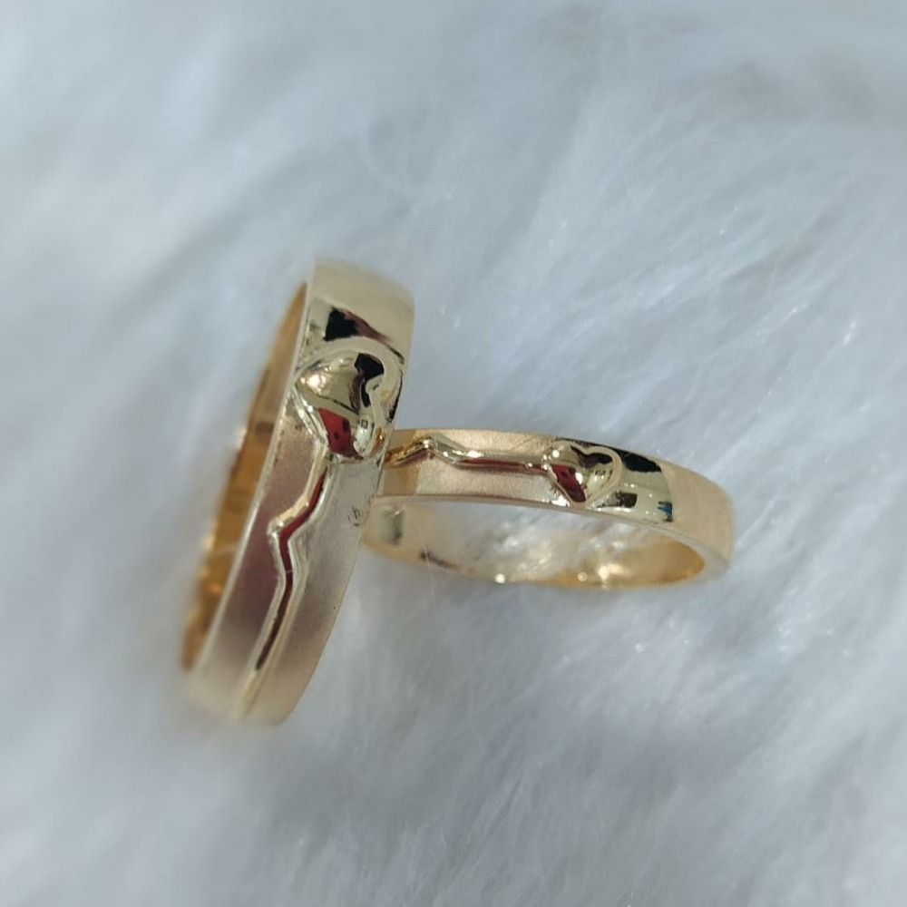 916 gold plain casting couple band