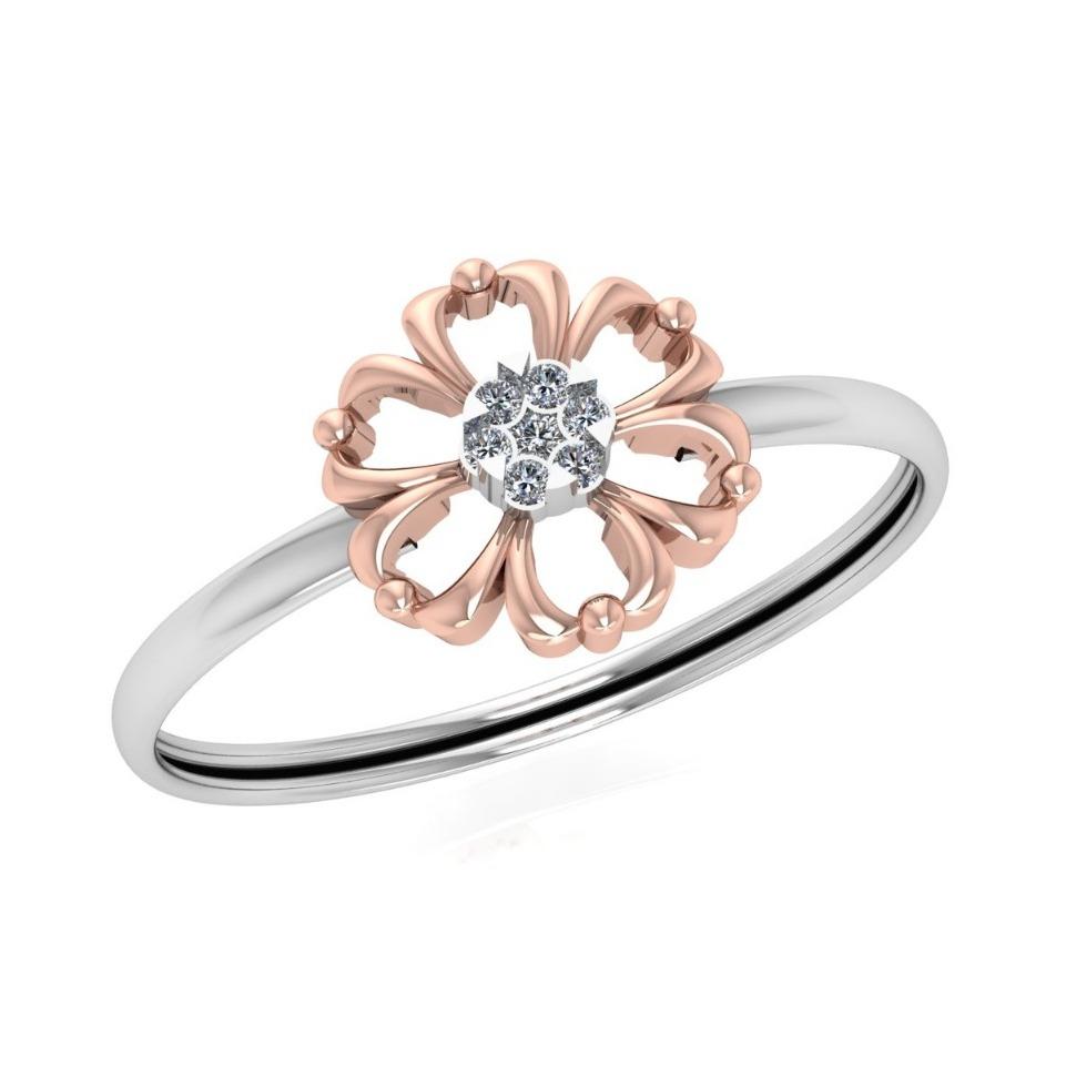 916 Gold Flower Design Ring JJ-R05