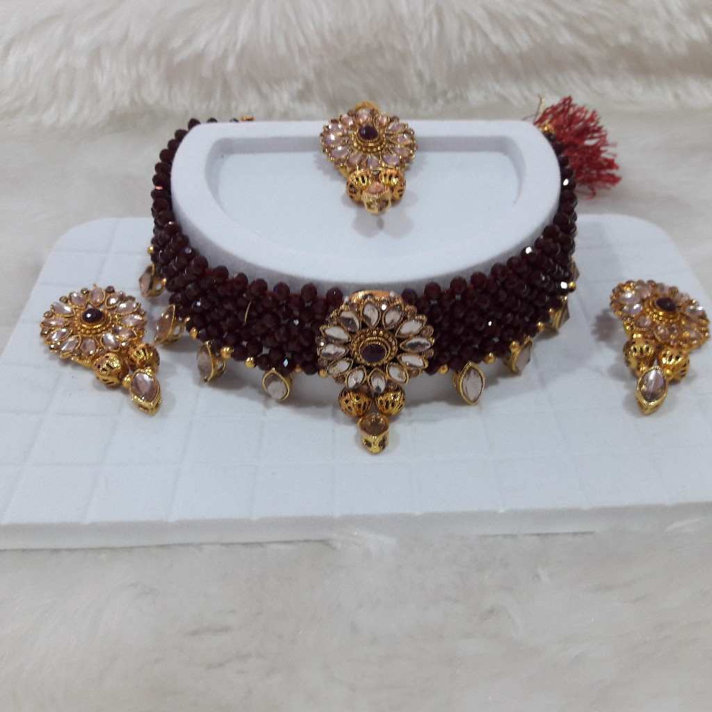 New fancy  Diamond  necklace set